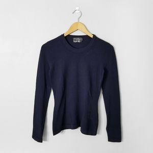 SALVATORE FERRAGAMO Navy Blue Long Sleeve Top